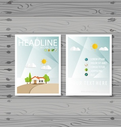 Brochure flyer design layout template ecology vector