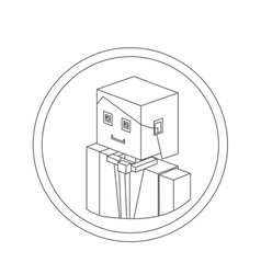 Businessman isometric avatar vector