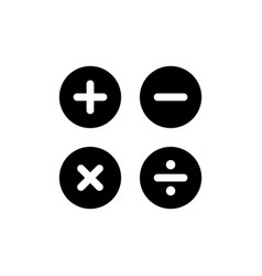 calculation icon in flat style calculator symbol vector image