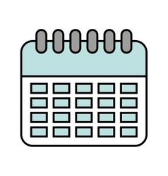 Calendar reminder data icon vector