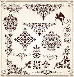 Calligraphy Decorative ornaments design elements vector image