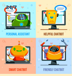 Chat bot flat design concept vector