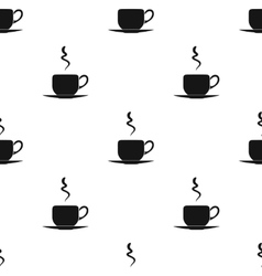 Coffee cup icon in black style isolated on white vector