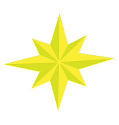 Color image of eight-pointed star vector