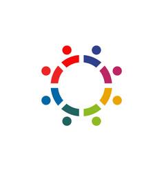 Community and adoption care logo design vector