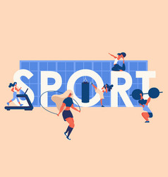 concept with large word sport window vector image