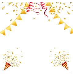 Confetti celebration vector