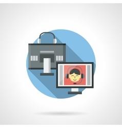 Digital communication color detail icon vector