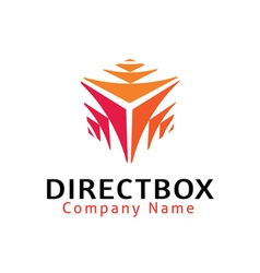 Direct Box Design vector image