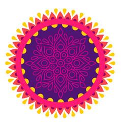 diwali rangoli deepavali vector image