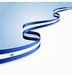 El Salvador flag background vector image