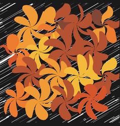 Fall whimsical flower background vector