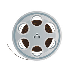 film stripe reel on movie cinema negative vector image