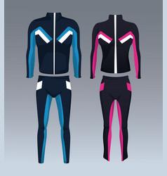 fitness sport wear vector image