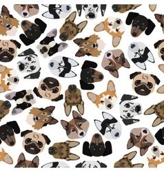 Flat seamless pattern pedigree dogs vector