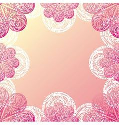 Floral nature pattern card vector image