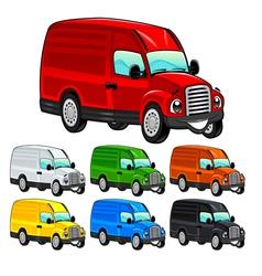 Funny van vector image