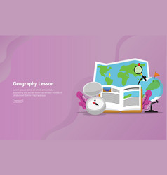geography lesson concept educational and vector image