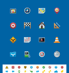 GPS navigation icons vector