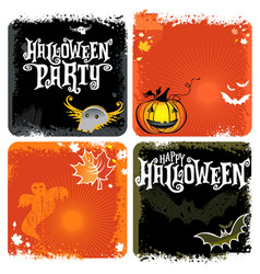 halloween backgrounds with lettering vector image