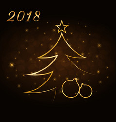 happy new year and merry christmas celebration vector image