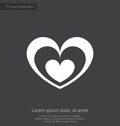 heart premium icon vector image