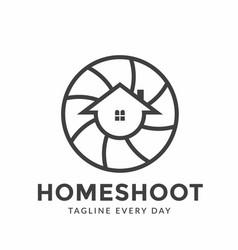 Home photography logo design template vector