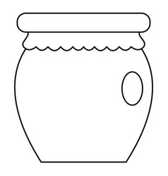 Honey jar pot icon outline style vector