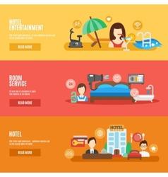 Hotel Banner Set vector image