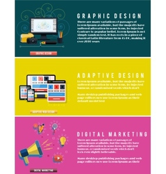 Icons for web design seo digital marketing vector image
