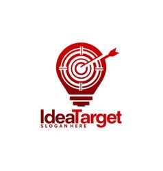 Idea target logo template focus designs vector