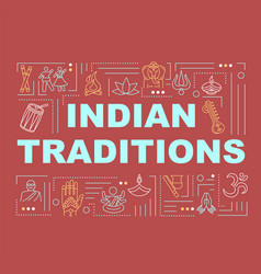 indian traditions word concepts banner vector image