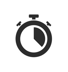 isolated stopwatch icon twenty past on a white vector image