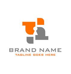 keyhole logo vector image