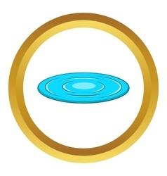 Lake icon vector