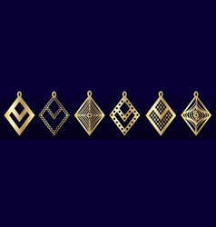 Laser cut pendants or earrings templates set vector