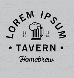 lorem ipsum tavern homebrew poster vector image