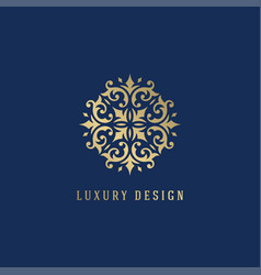 luxury logo crest template design vector image
