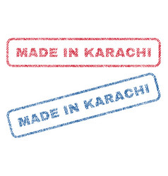 Made in karachi textile stamps vector