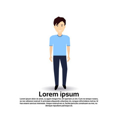 Man personage male template for design work and vector