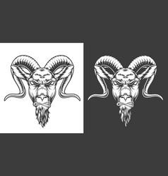 Monochrome goat icon vector