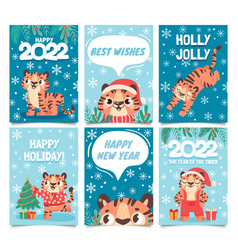 new year 2022 cards merry christmas poster vector image