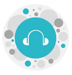 of mp3 symbol on headphones vector image vector image