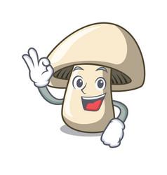 Okay champignon mushroom character cartoon vector