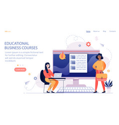 online training courses for employees vector image
