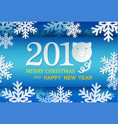 paper pig with count symbol new year unusual vector image