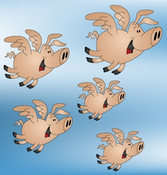 pigs might fly vector image