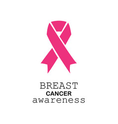 pink ribbon breast cancer awareness poster design vector image