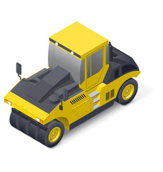 Pneumatic road compactor icon vector