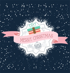 Poster Typography Merry Christmas vector